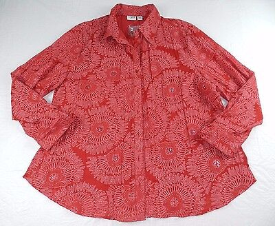 WOMENS BLOUSE button down collared SHIRT top = CATO = NEW $ = SIZE 18/20W = #p75