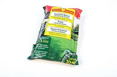 "Wolf Premium Lawn 200 g ,Shadow and Sun"" Lawn Seeds Grass Seeds 10 m²"