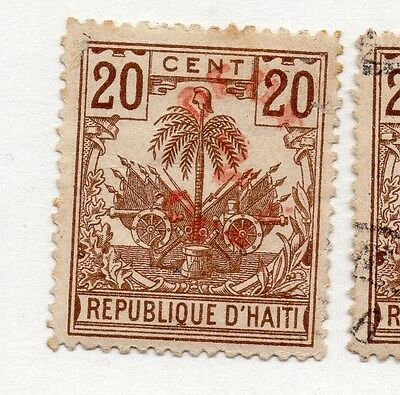 Haiti 1887 Early Issue Fine Mint Hinged 2c. Surcharged 073406