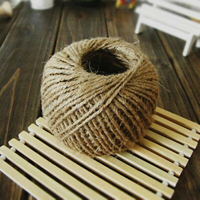 Wholesale 30M Twisted Burlap Jute Twine Rope Natural Hemp Linen Cord String 2mm