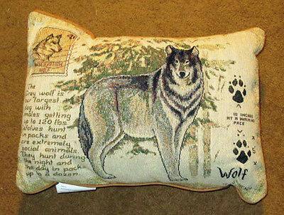 Great Outdoors ~ Grey Wolf Tapestry Pillow