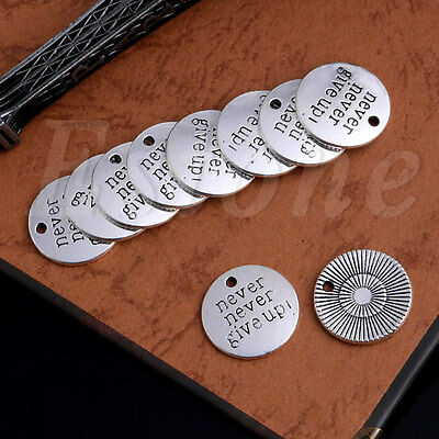 10pcs Antique words Charm Silver Tibetan Pendant DIY Jewelry Alloy Findings