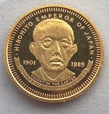 Liberia 1989 Japan Emperor Hirohito 20 Dollars Gold Coin,Proof