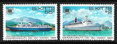 St Kitts 1983 Commonwealth  Day  Set 2 Mnh