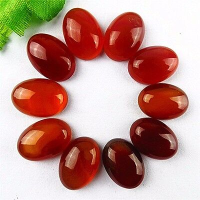 BA3881 wholesale 10PCS Beautiful oval red coffee Agate CAB cabochon 18x13x6mm