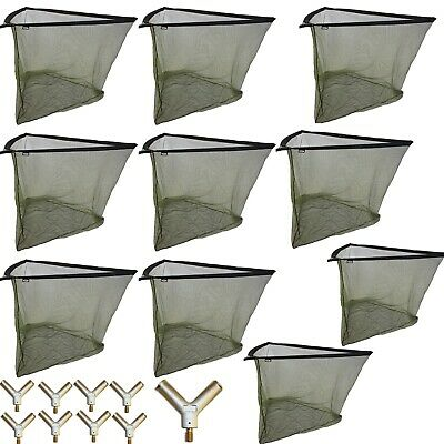 "10 x 42"" Wholesale Carp Fishing Landing Net Metal Block Green Mesh Style NGT"