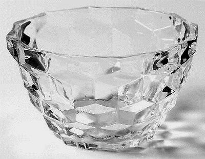 Jeannette Clear Depression Glass CUBE Deep Custard Cup/Bowl/s
