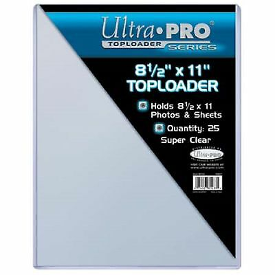 Ultra Pro 8 1/2 '' x 11 '' Toploaders 25 count sealed package