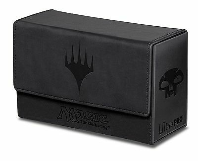 Ultra Pro Black Mana Dual Flip Box for Magic the Gathering Cards Brand New 86190