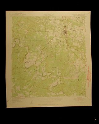Goldthwaite Texas 1950 vintage USGS Topographical chart map