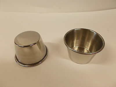 Lot of 16 ~ ~ Adcraft 2-1/2oz Stainless Steel Sauce Cup OYC-2