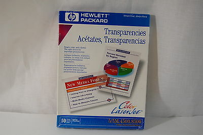 NEW Hewlett Packard Transparencies 50 sheets Color Laser Jet 5/5M, 4500 ,8500