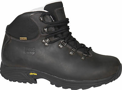 Best Group Storm Leather Waterproof Vibram Walking Hiking Boots Brown Mens Women