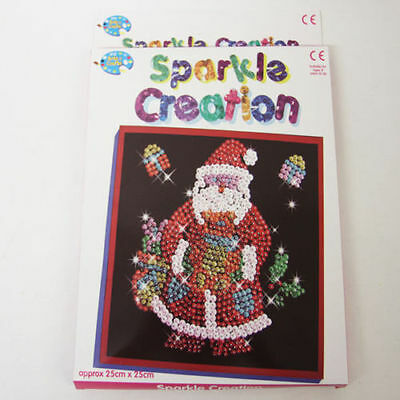 Make Your Own Sequin Creations Childrens Pin Art Craft Set SANTA CHRISTMAS GIFT