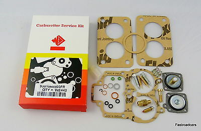 Weber 38 Dgas Carb/carburettor Service Kit Original We442Fr With Base Gaskets
