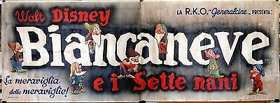 orig italian movie poster SNOW WHITE AND THE SEVEN DWARFS Disney ONLY KNOWN COPY