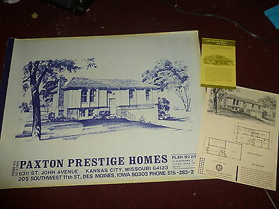 The Santa Fe vintage house plans Paxton Prestige Homes home plans/sales sheet
