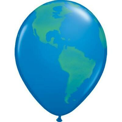 "20 x Planet Earth/Globe Qualatex 16"" Latex Balloons"