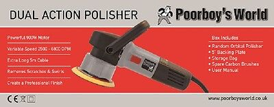 Poorboys World 240v Car Polisher Dual Action - Free Courier Delivery