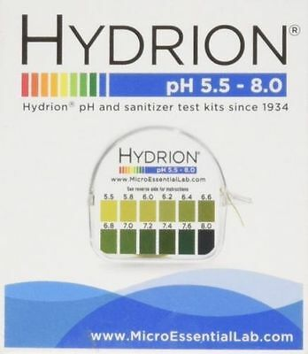 Hydrion  pH TEST Tape Strips Paper Urine & Saliva Dispenser 5.5-8.0 MPN 067