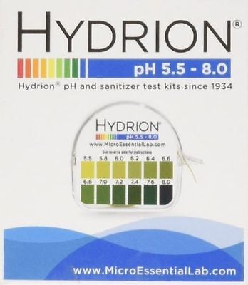 Sale Hydrion  pH TEST Tape Strips Paper Urine&Saliva Dispenser 5.5-8.0 MPN 067