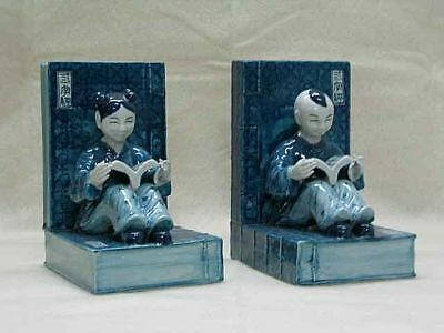 Lovely Pair of Blue & White Chinese Porcelain Bookends