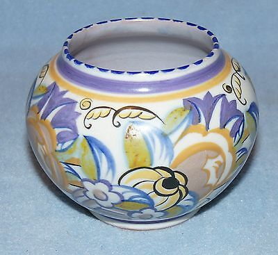 POOLE POTTERY Traditional Floral 354 Vase PD Decoration Pre-1934