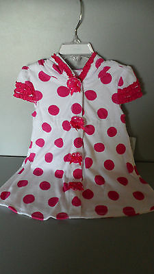 Disney Store Hooded Minnie Mouse Cover Up for Toddler Girls 3T
