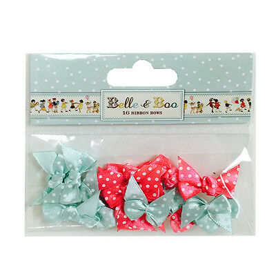 LOT 20 PETITS NOEUDS SATIN A POIS BARRETTES COUTURE SCRAPBOOKING ROSE VIOLET NEW