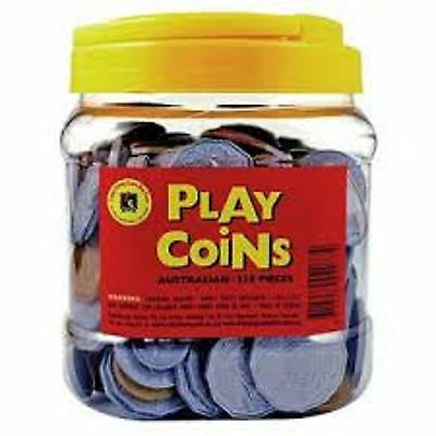 Free Post Realistic Australian Play Money Coins Toy Money 318 pieces