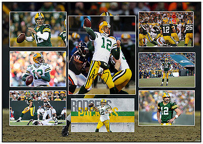 Aaron Rodgers Green Bay Packers Signed Nfl Matted Photograph