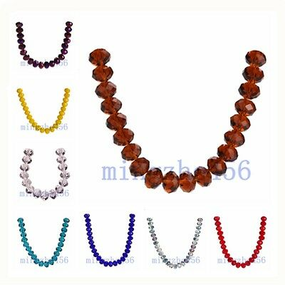 Wholesale 14mm Faceted Crystal Glass Rondelle Loose 5040# Spacer Beads 10/20pcs