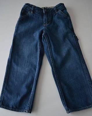 Boys GAP KIDS Sz 5 R Denim Carpenter Blue Jeans Pants