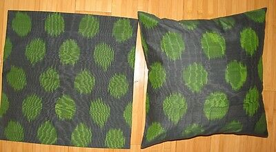2 Uzbek Silk Ikat Fabric Pillow Cases Orient 7403-7467