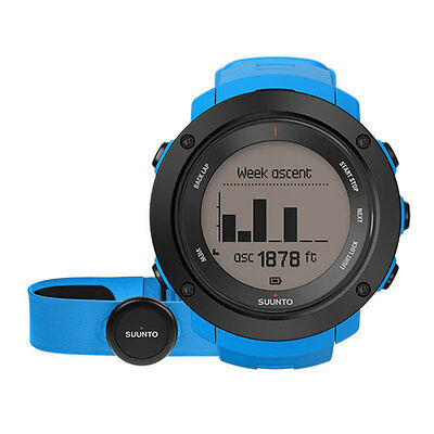 Suunto Ambit3 Vertical Blue Hr - Multisport Uhr Gps Puls Tria Trail Outdoor Neu