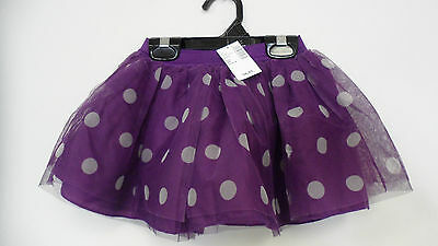Childrens Place Purple Plum Polka Dotted TUTU Skirt