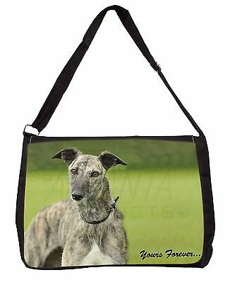Greyhound Dog 'Yours Forever' Large Black Laptop Shoulder Bag School/, AD-LU7ySB