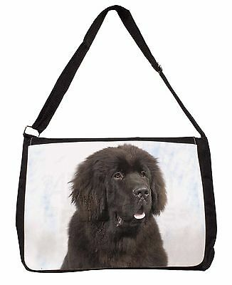 Newfoundland Dog Large Black Laptop Shoulder Bag School/College, AD-NF1SB