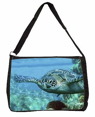Turtle by Coral Large Black Laptop Shoulder Bag Christmas Gift Idea, AF-T20SB