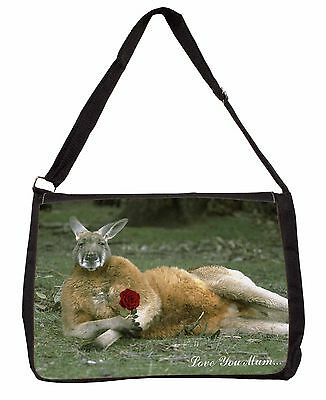 Kangaroo+Rose 'Love You Mum' Large Black Laptop Shoulder Bag School/, AK-1RlymSB