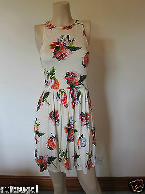 5c1f59230fa0 EX TOPSHOP WHITE Floral Broderie Anglaise Summer Skater Flared Dress ...