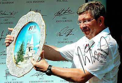 Ross BRAWN Signed Autograph 12x8 Photo D AFTAL COA Mercedes Petronas Formula 1