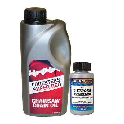1 Litre Chain Oil and 100 ML Two Stroke Oil For Chainsaws