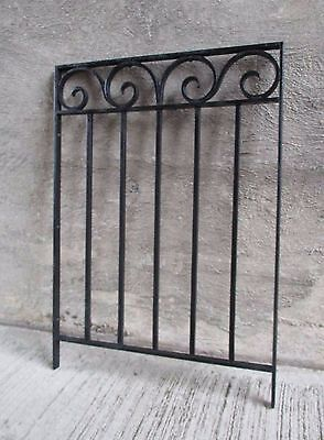 Antique Wrought Iron Bank Teller Window Guard - Black (#6)