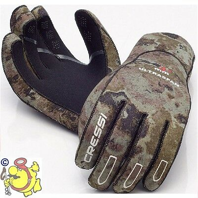 Cressi Ultra Span 2.5mm Camu camou Mimetic Gloves Spearfishing freediving.. DE
