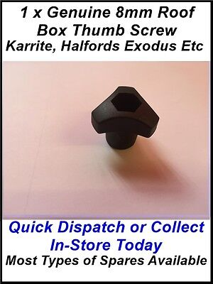 Spares - 1 X Karrite Odyssey Roof Box Thumb Screw Also Fit Halfords & Exodus