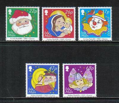Isle of Man 2002 Christmas/Europa--Attractive Holiday Topical (970-74) MNH