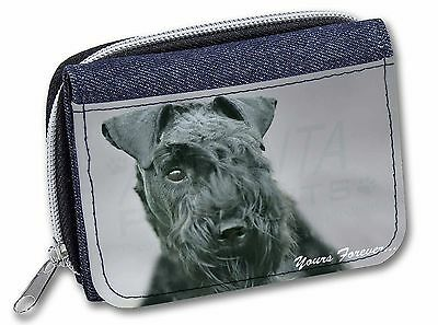 Kerry Blue Terrier 'Yours Forever' Girls/Ladies Denim Purse Wallet Ch, AD-KB1yJW