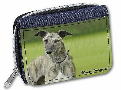 Greyhound Dog 'Yours Forever' Girls/Ladies Denim Purse Wallet Christm, AD-LU7yJW