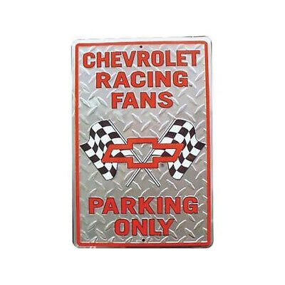 Chevrolet racing fans parking only sign 12x8 plate tag nascar ss chevy gm motor